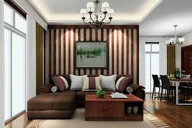 exotic small living room design with vertical brown