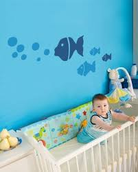 love the fish decals on the wall | Baby boys room | Pinterest ...