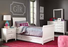 Ivy League White 5 Pc Twin Sleigh Bedroom - Teen Bedroom Sets White