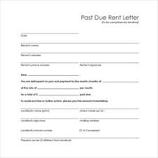 Sample Past Due Rent Letter In 2019 Late Rent Notice
