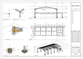 steel layout detail drawings revit