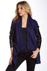 dexdevoted faux leather cardigan