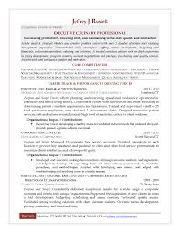 Resume Templates Executive Sous Chef Examples Ilivearticlesees