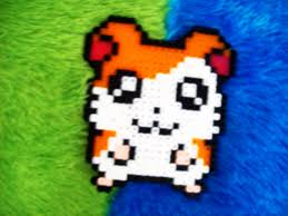 Cute Perler Bead Patterns Best Perler Beads Hamtaro A Pegboard Bead Charm Pegboard On Cut Out