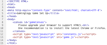 Set Up Your HTML5 Game | Gaminglogy