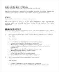 Resume Sample For Secretary Resume Sample For Secretary Secretary Resume Objectives Medical