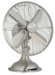 Amazon.com: Hunter 12\u201d Retro Table Fan in Brushed Nickel: Home ...