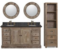 Beautiful Rustic Double Sink Bathroom Vanities 60 Inch Vanity Marble And Decorating