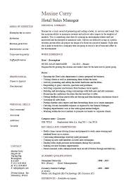 Sales Executive Sample Resume Sample Resumes For Hospitality Industry Hotel Sales Manager Resume