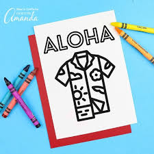 Palm trees, ocean, ice cream! Summer Coloring Pages Crafts By Amanda
