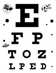 Standard Eye Chart For Dmv Download Free Eye Charts A4 Letter Size 6 Meter 3