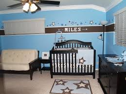 Amazing Concept Baby Boy Blue Nursery Ideas Bedding Set Double Sofa Seat  Wooden Ceiling Lamp Area Rug Baskets Bins