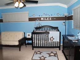 Amazing Concept Baby Boy Blue Nursery Ideas Bedding Set Double Sofa Seat  Wooden Ceiling Lamp Area Rug Baskets Bins