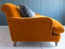 Pudding armchair in our Spiced Orange plush velvet