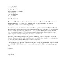 Businessministrative Assistant Cover Letter Letters ...