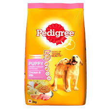 pedigree puppy en and milk dog food x 3 kg