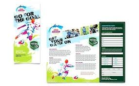 Football Brochure Template Youth Soccer Fold Design Flyer Templates ...