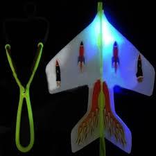 1 Pcs Amazing <b>LED Light</b> Arrow Plane Helicopter <b>Flying</b> Toy Party ...