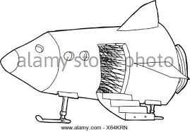 cartoon outline of open door and stairs on white stock photo