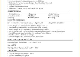 Nanny Job Responsibilities Resume Archaicawful Resumemple For Nanny Example Basitting Basitter 34