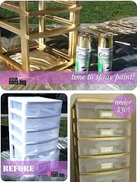 can i spray paint plastic plastic storage drawers