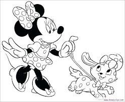 Colouring Pages Minnie Mouse Running Downcom