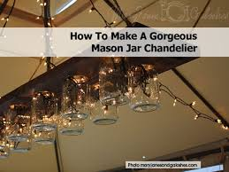 make gorgeous mason jar chandelier