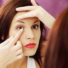 always insert your contact lenses prior to applying makeup to avoid residue transfer this could reduce chances of bacteria getting into your eyes