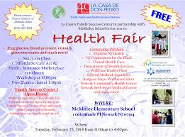 Health Fair Flyers Health Fair La Casa De Don Pedro