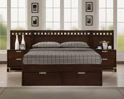 Bella Platform Storage Bed in Warm Brown Cherry - Homelegance