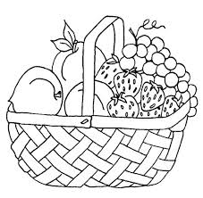 Strawberry and Other Fruit in the Basket Coloring Page strawberry and other fruit in the basket coloring page netart on coloring pages of fruits in a basket