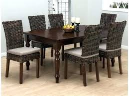 dining table with rattan chairs dining table with wicker chairs rustic dining chairs for best rustic