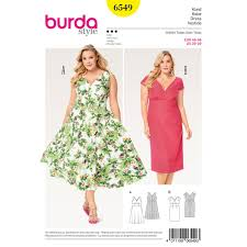 Plus Size Dress Patterns Delectable Misses Plus Size Short Sleeve Dress Burda Sewing Pattern 48 Sew