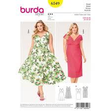 Plus Size Skirt Patterns New Misses Plus Size Short Sleeve Dress Burda Sewing Pattern 48 Sew