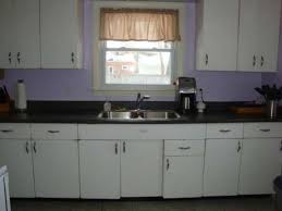 how to paint 1950 s metal kitchen cabinets trendyexaminer retro kitchen remodel