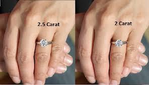 Carat Size Chart Emerald Cut 2 5 Carat Diamond Ring The Definitive Guide To Shopping