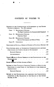 the works of john adams vol defence of the constitutions vol original table of contents or first page