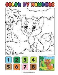 Unique patterns make up a figure of the number five for students to color in this worksheet. Color By Numbers Full Color Animal Coloring Book For Kids Ages 4 8 Great For Learning And Coloring With 20 Beautiful Hand Drawm Animal Illustrations Coloring Co Sunshinesky 9781088611906 Amazon Com Books