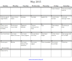 May Monthly Meal Plan With Printable Calendar & Family Friendly ...