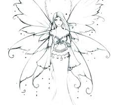 Coloring Pages Fairy Wings Mermaid Fairy Princess Coloring Pages