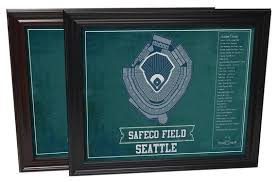 Seattle Mariners Safeco Field Vintage Seating Chart Baseball Print