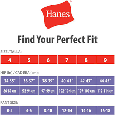 Walmart Shirt Size Chart Hanes Hanes Womens Cotton No Ride Up Brief Panties 6