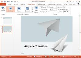 best powerpoint transition effects for travel presentations airplane transition effect