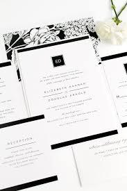 Black And White Invitation Paper Modern Black And White Wedding Invitations Wedding Invitations