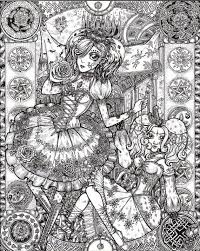 Pin Van Liz Foster Op Coloring Therapy Fairy Coloring Pages