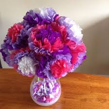 Make Flower With Paper Easy Tissue Paper Flowers 5 Steps With Pictures