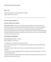 Fast Food Resume Awesome Fast Food Resume Fast Food Cashier Resume Template Fast Food Cashier