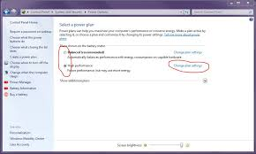 Next to your currently selected power plan, click Change plan settings.
