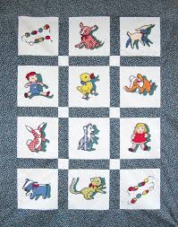 Appliqued Baby Quilt – Vintage Novelty Toy Fabric – Q is for Quilter & RSS Adamdwight.com