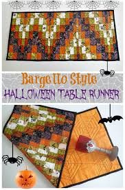 Bargello Style Halloween Table Runner - So Sew Easy & Bargello style quilted Halloween Table Runner. Great idea to try out  bargello patterns. Adamdwight.com
